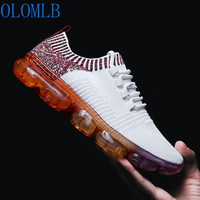 OLOMLB 2019 Men Sneakers Running Masculine Shoes Flats Fly Mesh Air cushion Breathable Shock Casual Shoes Men Tenis Masculino