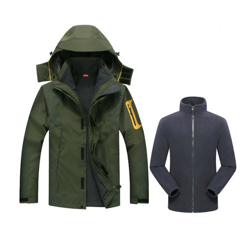 MAZEROUT waterproof Winter 3in1 Windproof hiking fishing skiing climbing Camping Mountain cycling trekking Outdoor Men Jacket-in Hiking Jackets from Sports & Entertainment    3