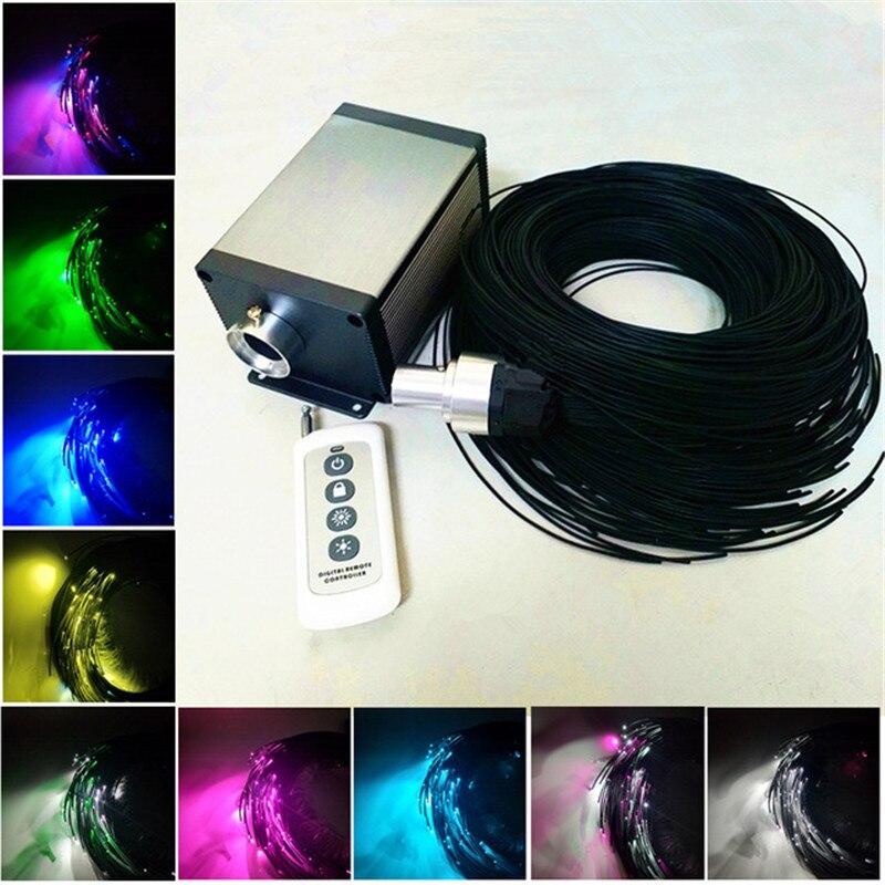 Lumière optique de bâton de Fiber pour l'extrémité de Sauna 1.5mm émettant le câble avec le revêtement noir de Pvc 5 W LED d'émetteur de LED de Cree