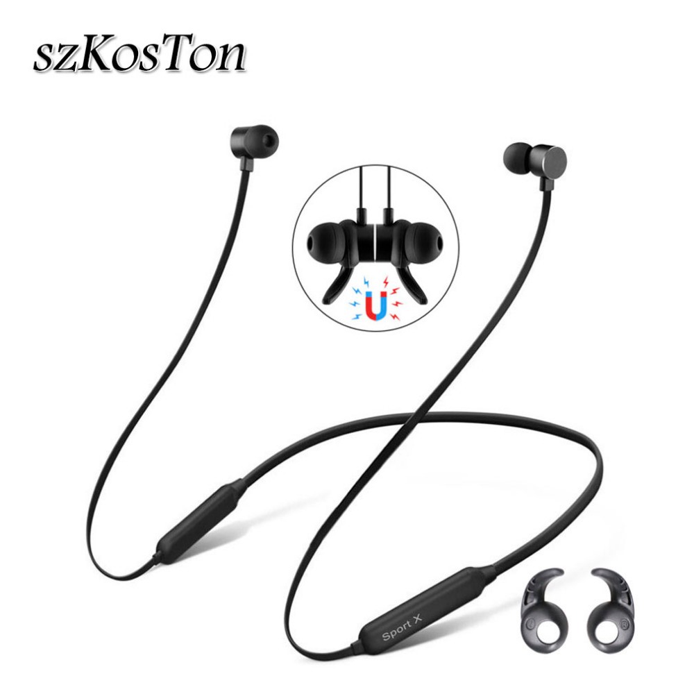 Bluetooth Headset With Microphone Waterproof Earphone for Sport Wireless Running audifonos earbud Neckband Headphone for Phone syllable a6 bluetooth 4 1 stereo earphone neckband wireless hifi music headset handsfree sport headphone with microphone