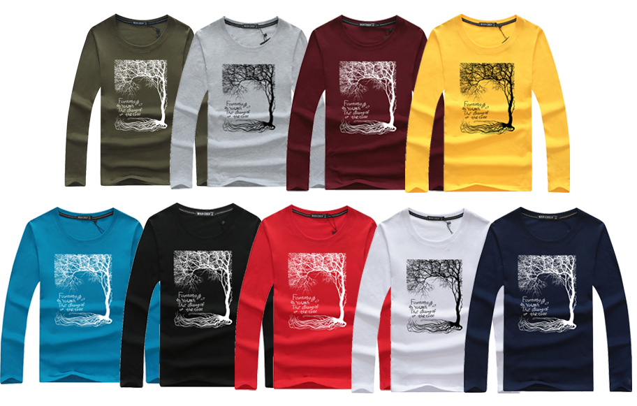 17 mens t shirts fashion Swag Men Slim long sleeve T-shirt mens T-shirt camisas Masculinas men casual tops tees swag 2