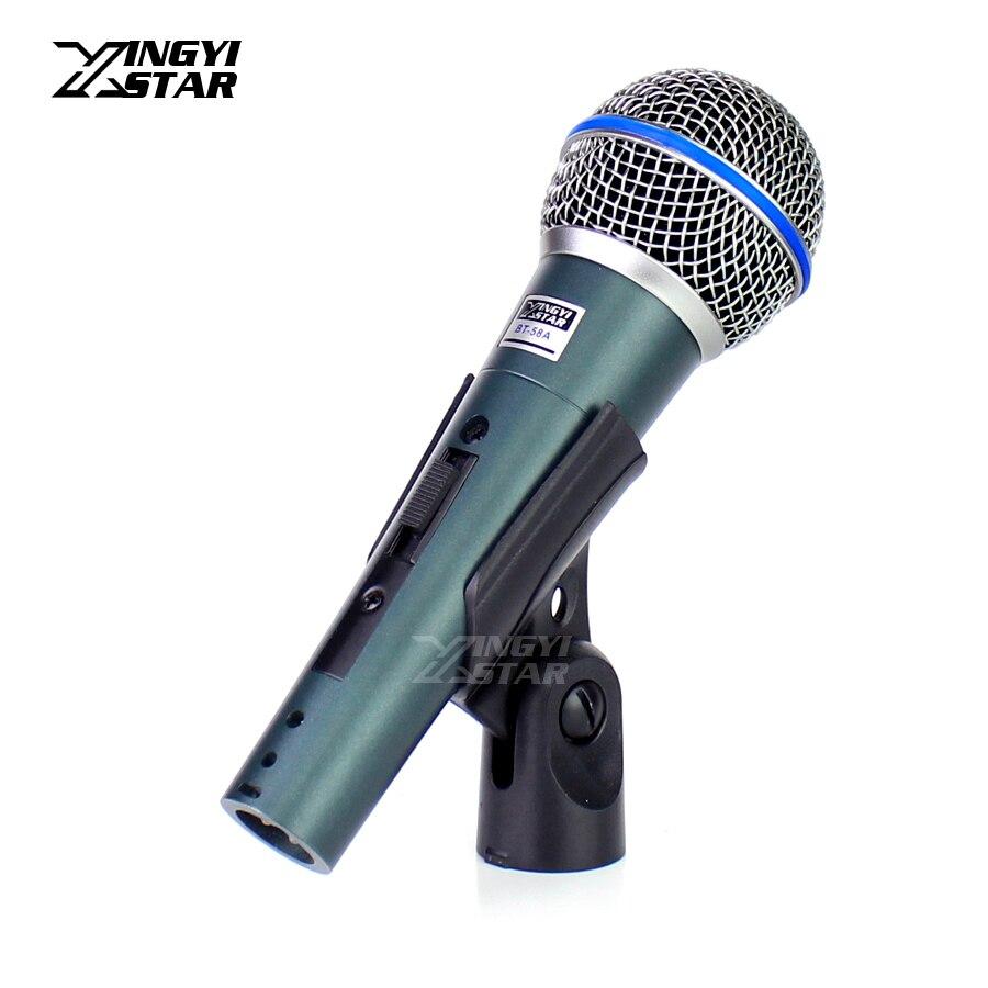 Bt58a profissional interruptor vocal handheld microfone dinâmico para beta58a beta 58a 58 misturador de áudio karaoke microfone dj estúdio computador youtube