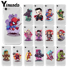 Yinuoda Marvel Avengers Case For iPhone XS Max XR X 7 6s 8 Plus 5S SE Super Iron Man Spiderman Deadpool phone Cases Cover Coque