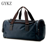 GYKZ Top Quality Leather Men Duffel Bag Shoulder Bags Multifunctional Outdoor Fitness Bag Sport Gym Bag Travel Mixed Color HY040