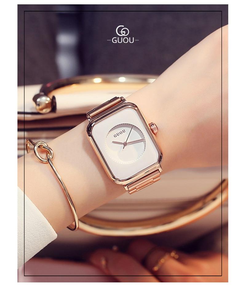 cinto de aço inoxidável moda moderna relógio