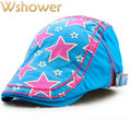 Khaki Blue Orange Yellow Red Summer Kids Star Fashion Beret Hat Children Visor Hat Baby Newsboy Hat Golf Flat Cap Bone Gorras
