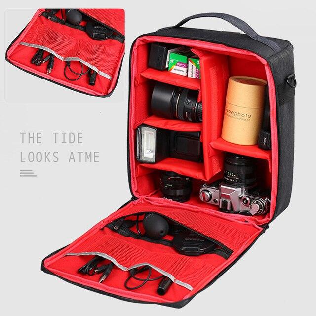 حقيبة ظهر لكاميرا DSLR الرقمية ، حقيبة ظهر كبيرة السعة لكاميرا التصوير الفوتوغرافي ، حقيبة ظهر للسفر ، حقيبة كتف لكاميرا نيكون كانون سوني