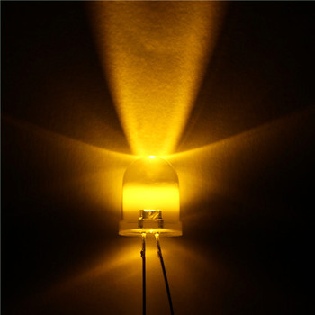 1000pcs  LED 10mm LED Yellow DIODE 10MM Round top Emitting Diodes Ultra Bright Super bright LED Lamp Light Bulb Electronic