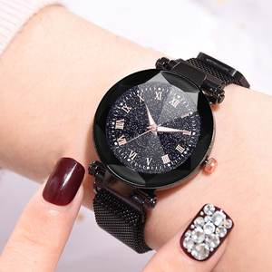 Quartz-Watch Magnet-Buckle Mesh-Band Women Alloy with 17 Dial Dial