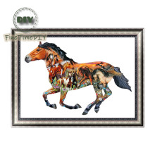 FineTime 5D Centaur Horses DIY Animals Diamond Painting Partial Round Drill Diamond Embroidery Mosaic Cross Stitch finetime 5d horses