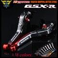 Laser Logo (GSX-R) 8 Colors Folding Extendable Motorcycle Brake Clutch Levers For Suzuki GSXR600 2011 2012 2013 2014 2015 2016