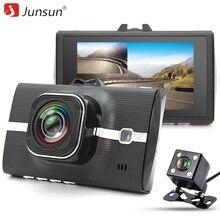 Junsun Coche DVR Cámara de Doble Lente Full HD 1080 P de Vídeo Recorde con ADAS/LDWS Monitor Aparcamiento Noche Registrador visión dashcam Dvr