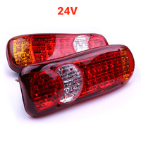 A Pair Waterproof 24V Truck LED Tail Light Rear Lamp Stop Reverse Safety Indicator Fog Lights for Trailer Truck Taillights Hot