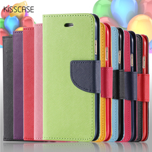 KISSCASE For iPhone 5S SE Phone Case Luxury Color Leather Flip Case For Apple iPhone 5 5S 5G Card Slot Cover Bag For iPhone SE