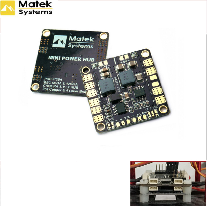 Matek Mini Power Hub Power Distribution Board PDB With BEC 5V & 12V For FPV QAV250 ZMR250 Multicopter Quadcopter