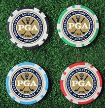 12EA new design pga golf poker chip ball marker many color 40cm dia 11.5g best seller golf ball marker