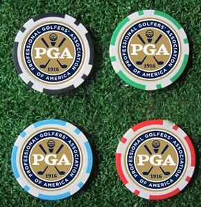 Image 1 - 12EA new design pga golf poker chip ball marker many color 40cm dia 11.5g best seller golf ball marker