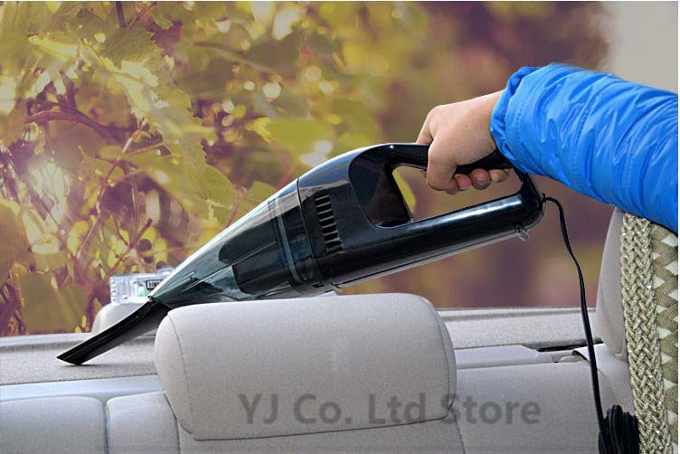 fashion design black 65W Auto Dust Collector Mini Handheld Wet And Dry Dual-use 12V Portable Car Vacuum Cleaner with 4.19M Cable