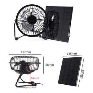 """Image 2 - BUHESHUI 4 """"6"""" 8 pouces ventilateur de Ventilation de refroidissement USB 3 W 3.5 W 5.5 W 6 V panneau solaire alimenté ventilateur de fer pour la pêche en plein air de bureau à domicile"""