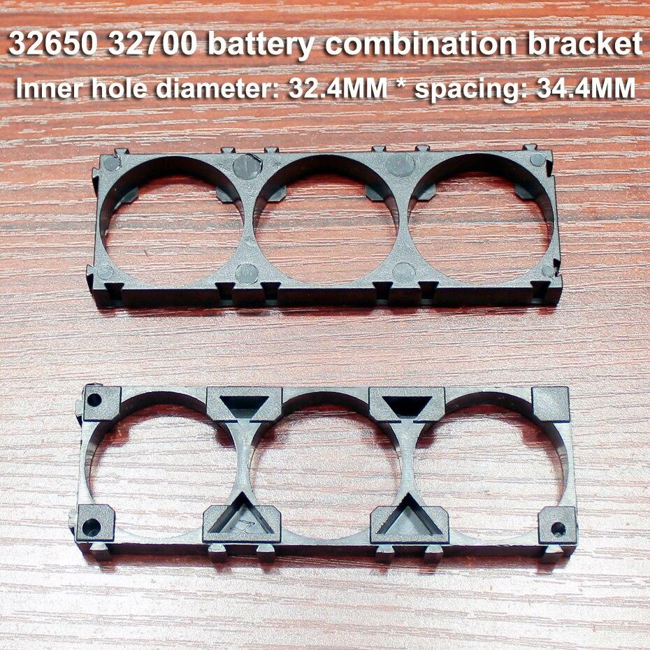 Купить с кэшбэком 10pcs/lot Lithium battery universal bracket 32650 32700 32900 lithium battery fixed base snap connection assembly bracket seat
