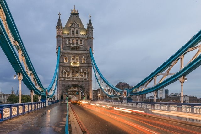 custom print fabric poster London Tower Bridge England PJZK915 for wall art room decor home decoration (frame available)