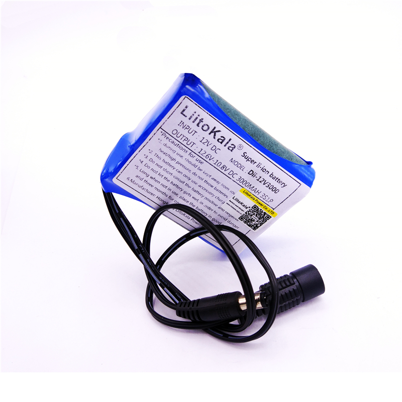 HK LiitoKala 12 V 2200 mah 3000 mAh 6800 mah 9800 mah 10ah 18650 li-lon DC 12 V Super batterie Rechargeable