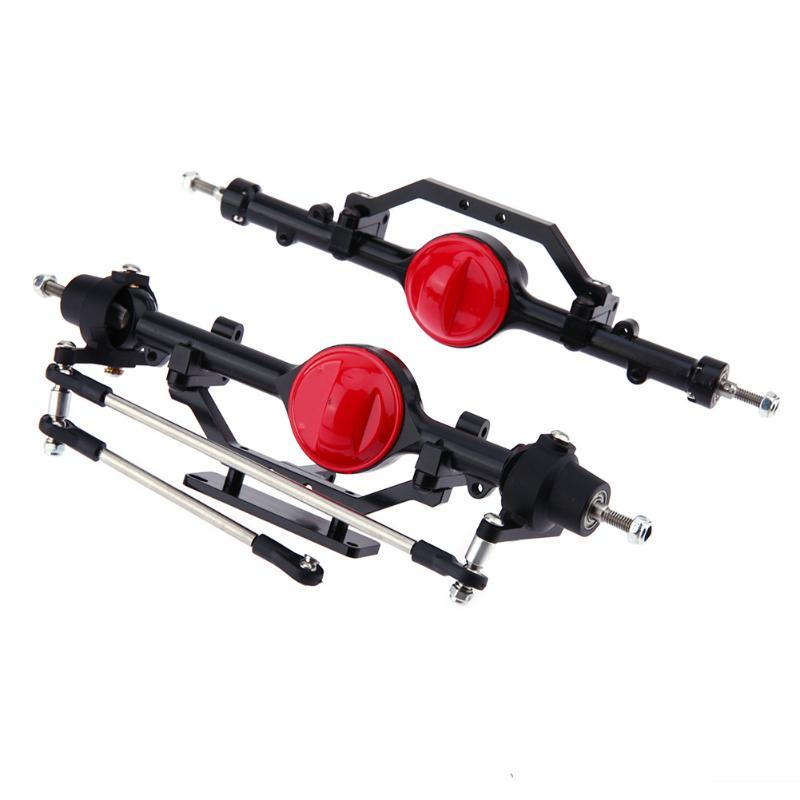купить 2Pcs/Set Remote Control Car Black Metal Simulation Front Rear Axle for RC Crawler RC4WD D90 Truck D110 1/10 Crawler Part недорого