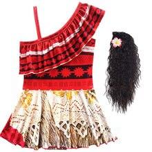 Dziewczęta Moana letnia sukienka dziecięca ramiączka Backless Vaiana sukienka księżniczka strój dziecięcy Sundress