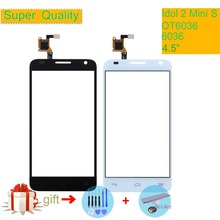 For Alcatel One Touch idol 2 Mini S 6036 OT6036 6036A 6036Y OT6036Y Touch Screen Touch Panel Sensor Digitizer Front Glass NO LCD lcd screen display touch panel digitizer with frame for alcatel one touch idol 3 6045 ot6045 black color free shipping