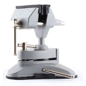 Drill Stand Clamp Universal Vacuum Suction Bench Vice( Aluminum Alloy) 360 Rotate Mini Table Vice Bench Clamp 3D Ball Joint
