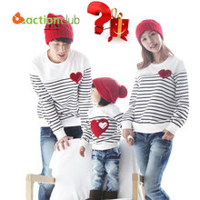 Actionclub Family Matching Clothing Soft Cotton Shirt Matching Mother Daughter Clothes Family Look Style Father Mother