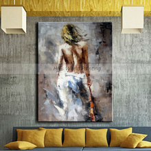 Large Handpainted Abstract nude Oil Painting on Canvas Handmade girl oil For Living Room bedroom hotel bar decor