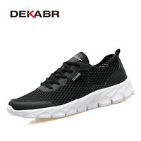 DEKABR Brands Men Shoes Fashion Mesh Breathable Summer Style Unisex Couples Comfortable Handmade Quality Light Weight