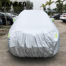 Check Price Full Car Cover for SUV Outdoor Universal Anti-Dust Sunproof SUV full car cover with Warning Strips