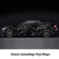 black grey camo vinyl wrap Film With Air Free Vehicle Graphics Stickers camouflage Film Size: 1.52*5/10/15/20/25/30 Meters