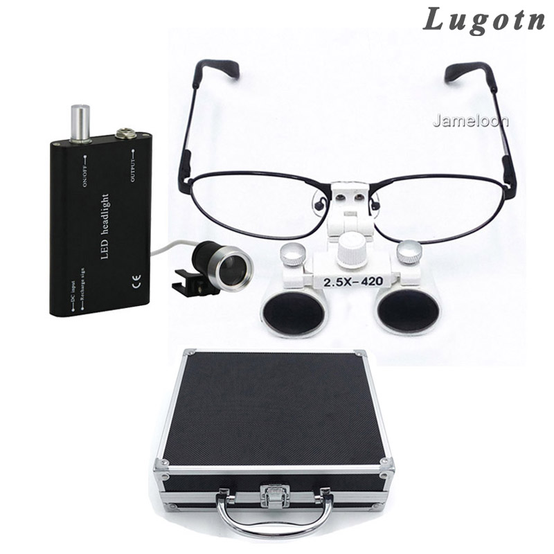 lightning safety glassesblack frame smoke lens sold as 1 box 10 pair per box Metal box 2.5X lens near sighted removable glass detachable metal frame nearsighted operation loupe led dental magnifier