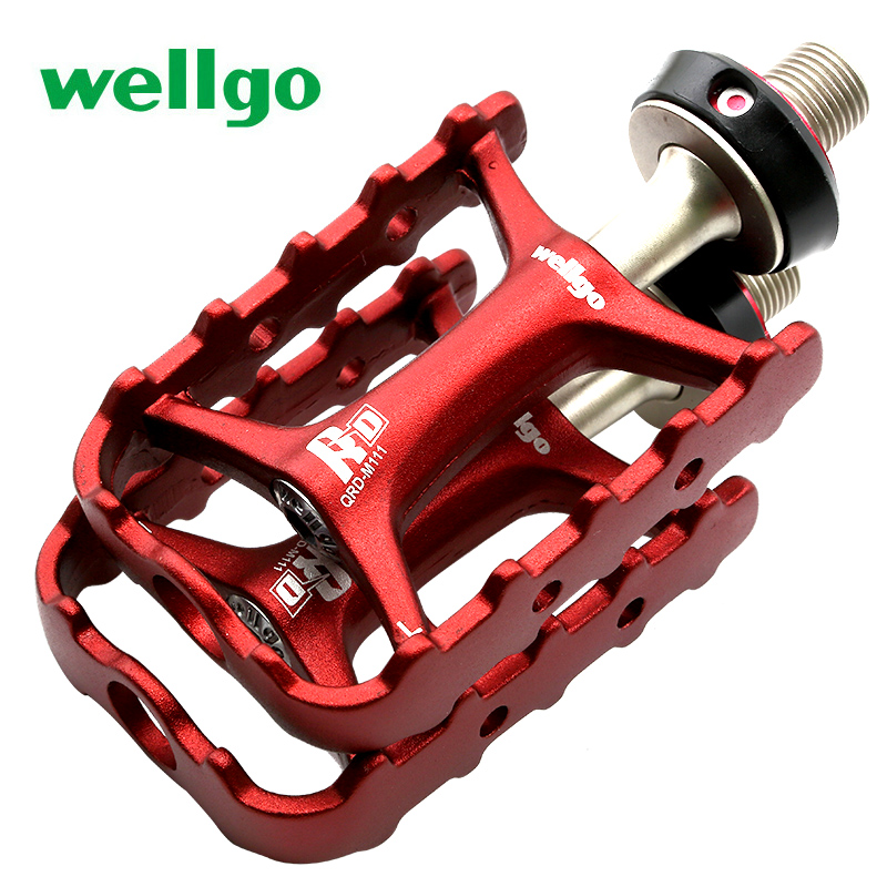 Wellgo m111 qrd-m111 quick release pedal mountain bike ultra-light bearing pedal Road bicycle pedal
