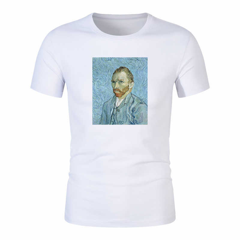 Van Gogh Oil Art women t shirt Print t-shirt female top Casual streetwear tshirt graphic tee shirts Harajuku Femme 100% cotton