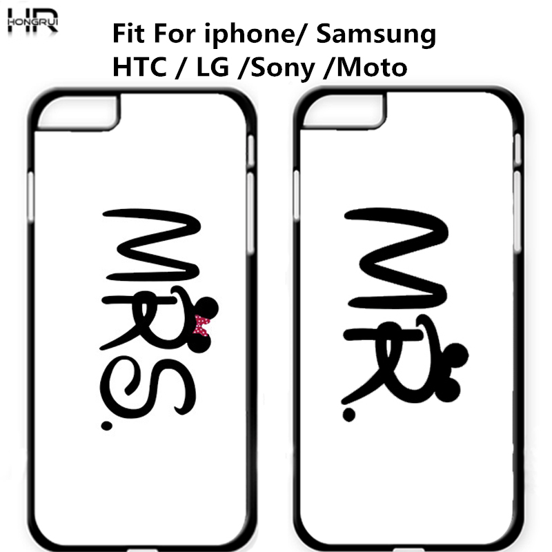 Mr Mrs Couple Case mobile Phone Cases Cover For Iphone 4s 5s 5c 6s 7 6plus Cover for Samsung galaxy S3 S4 S5 S6 S7 edge J5 J7 A5