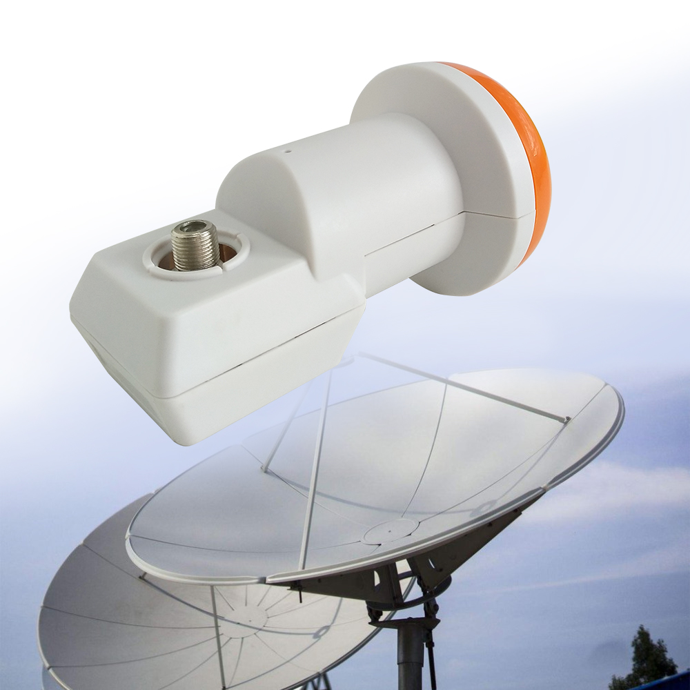 HD Digital HDTV SAT SR-320 Best Signal Universal KU Band Single LNB Waterproof High Gain Low Noise 0.1 DB Satellite Dish Antenna