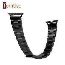 Schwarz Silber Edelstahl Armband für Smartwatch Uhrenarmband Armband Armband 42mm 38mm Aktivität Tracker Band Armband