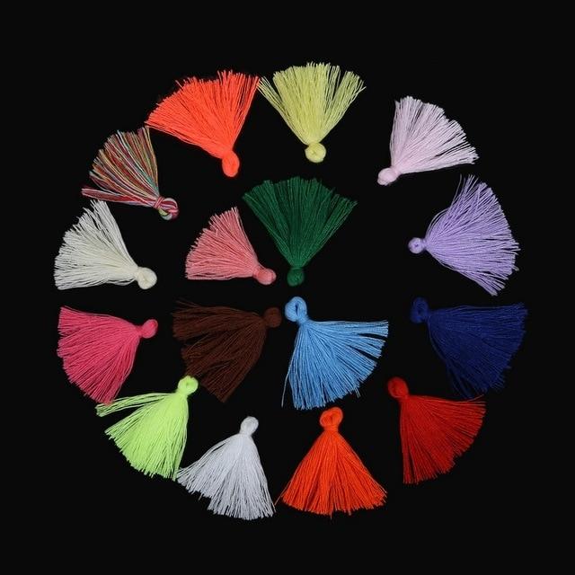100 pcs 27mm Coton Soie Gland Charmes Pendentif Pour La Fabrication de Bijoux Collier Porte-clés Vêtements DIY Résultats de Bijoux Accessoires