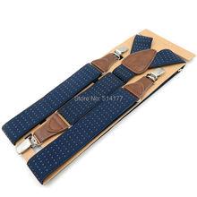 Men's Suspenders 3 clips leather braces adult suspensorio tirantes hombre father bretelles Grandfather gifts