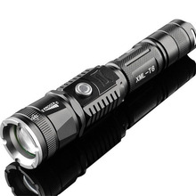 Rechargeable Waterproof High Quality Zoom XML Cree T6 Aluminium Alloy Flashlight Zoom Torch Able As Charge Treasure With 18650