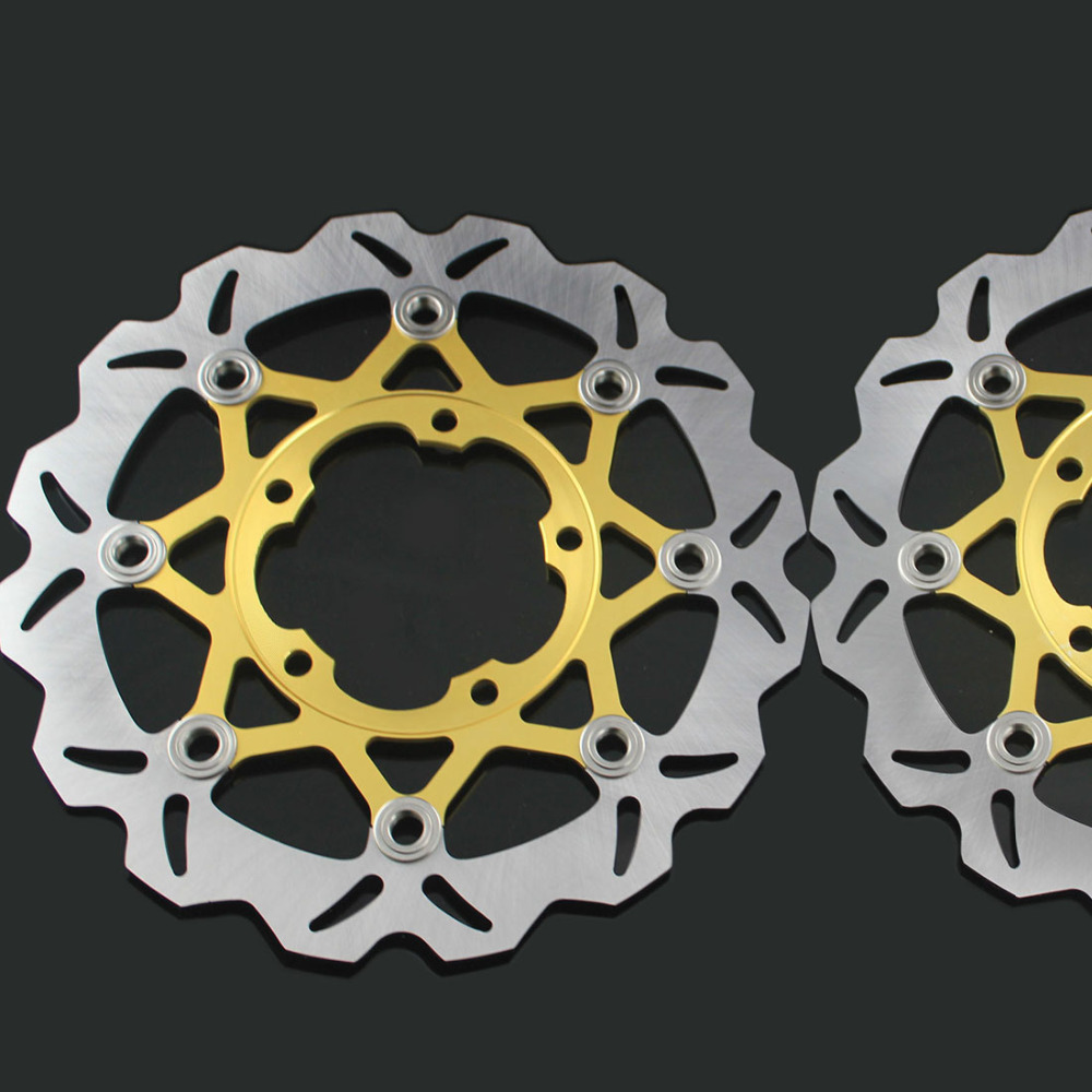 motorcycle Front Disc Brake Rotor Scooter Front Rear Disc Brake Rotor for SUZUKI GSXR 600/750 2006-2010 GSXR1000 K5 2005-2006 2 pieces motorcycle front disc brake rotor scooter front rear disc brake rotor for honda cb400 1994 1995 1996 1997 1998