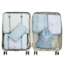 6PCS A Set Travel Pouch Packing Organizer Bag Waterproof Cubes Organizers For Clothing Clothes Luggage Packs Storage Bags