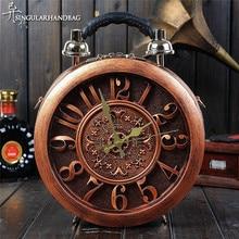 The New Creative Alarm Clock Pack Craft Watch Bag Handbag Shoulder Bag Fashion Women's Handbags Dropship