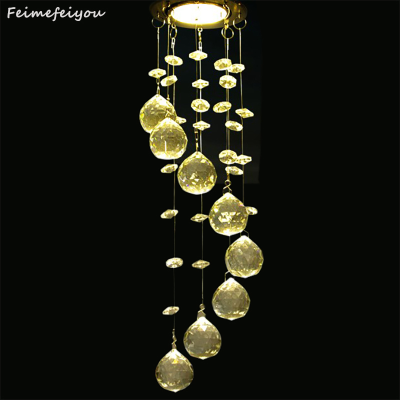New Modern Crystal Ceiling Light Fixture Spiral Crystal Lamp Crystal lustre Light fitting LED for Aisle Hallway Porch Staircase стоимость