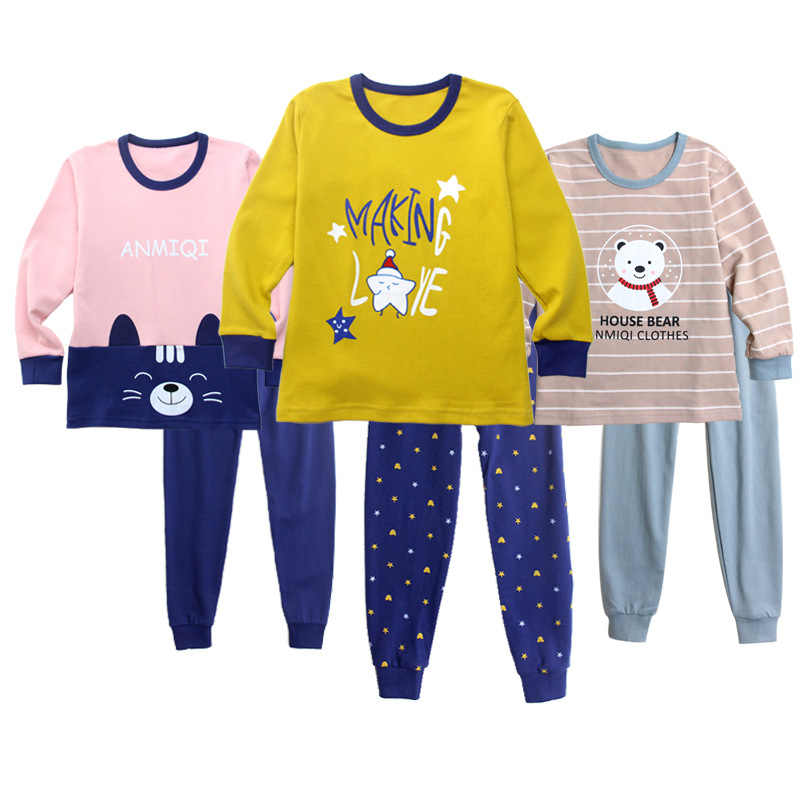 Cotton Print Children`s Pajamas for Girls 2019 New Winter Boys Casual Long  Sleeve Combinaison cdc5c04d3
