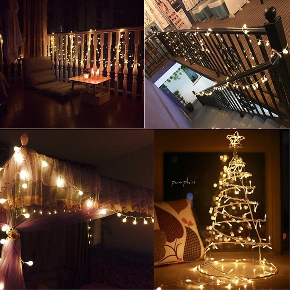 globe string lights 5m 50leds with remote control battery operated christmas